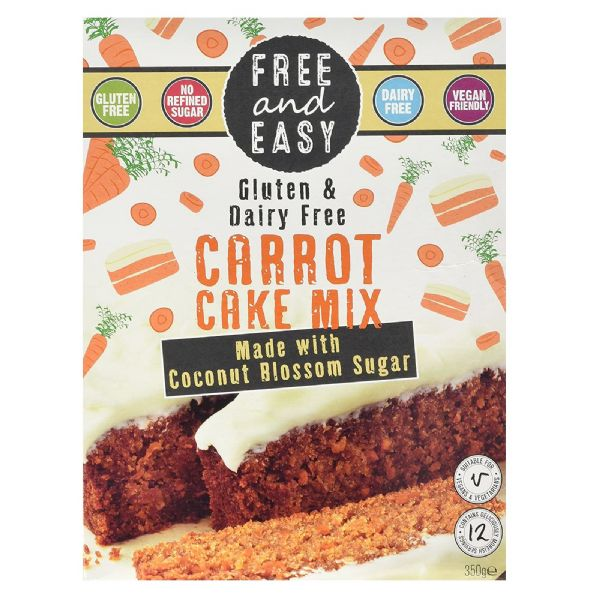 Free & Easy Carrot Cake Mix Gluten & Dairy Free 350g
